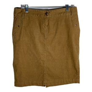 J Crew Womens Skirt Pencil Straight Brown Corduroy
